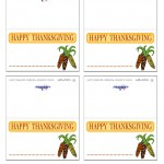 Printable Thanksgiving Place-Cards